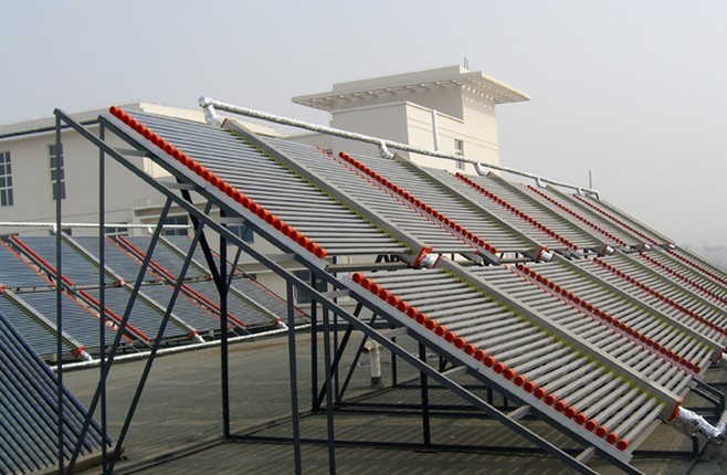 热管真空管型集热器-工程系统-桑普太阳能热水器- 能